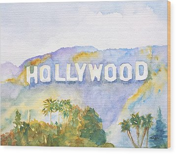 Hollywood Sign California Wood Print