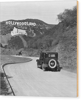 Hollywoodland Wood Print