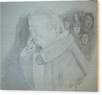 Holocaust Memories Wood Print by Esther Newman-Cohen