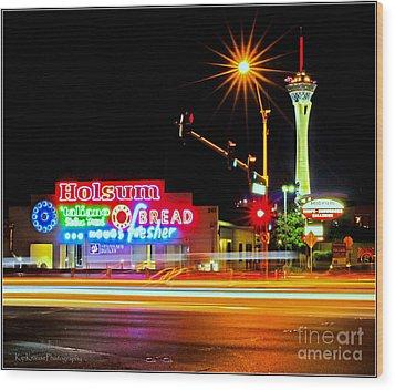 Holsum Las Vegas II Wood Print by Kip Krause