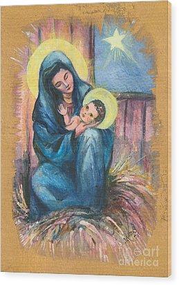 Holy Christmas No. 1  Wood Print by Elisabeta Hermann