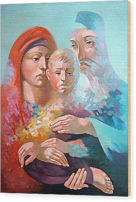 Holy Family Wood Print by Filip Mihail