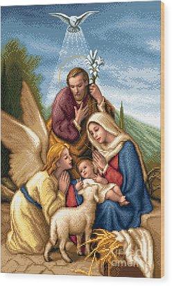 Holy Family Wood Print by Stoyanka Ivanova