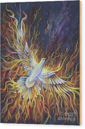 Holy Fire Wood Print