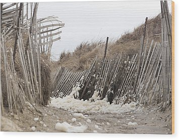 Holy Foam Wood Print by Eugene Bergeron
