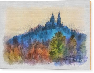 Holy Hill Autumn Wood Print by Clare VanderVeen