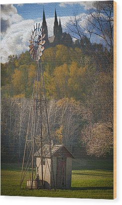 Holy Hill  Wisconsin Wood Print by Jack Zulli