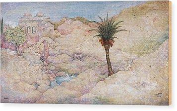 Holy Land Wood Print by Michoel Muchnik