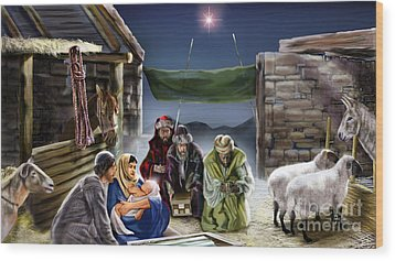 Holy Night Wood Print by Reggie Duffie