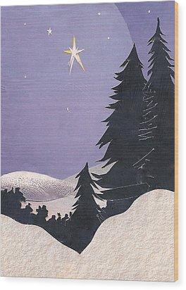 Holy Night Wood Print