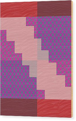 Holy Purple Diamond Pattern And Silken Light Crystal Across Wood Print by Navin Joshi