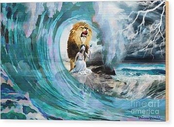Holy Roar Wood Print
