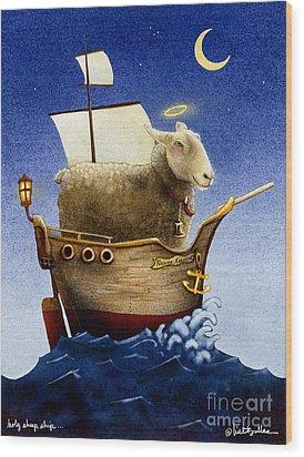 Holy Sheep Ship... Wood Print by Will Bullas