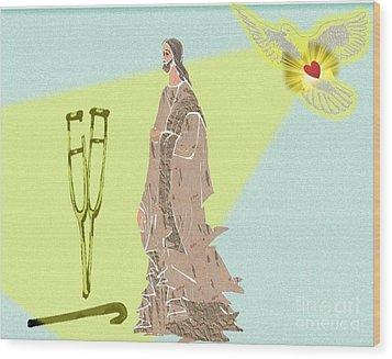 Holy Spirit Wood Print by Belinda Threeths