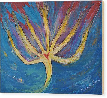 Wood Print featuring the painting Holy Spirit Which Dwells In You by Cassie Sears