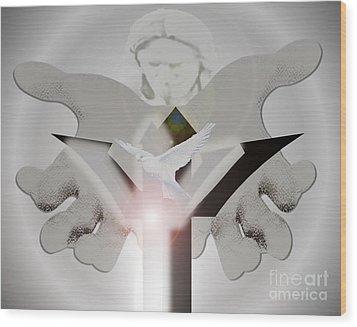 Holy Trinity Wood Print by Belinda Threeths