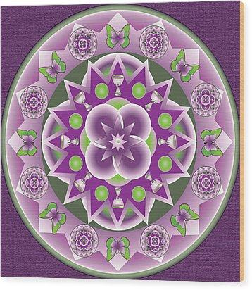 Holy Week Mandala Wood Print by Linda Pope
