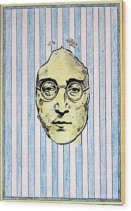 Homage To John Lennon  Wood Print by John  Nolan