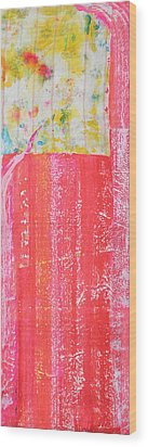 Homage To Old Paint Rags Wood Print by Asha Carolyn Young