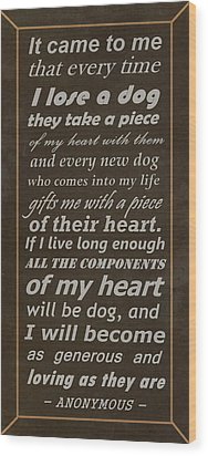 Homage To The Dogs In Our Lives Wood Print by Movie Poster Prints