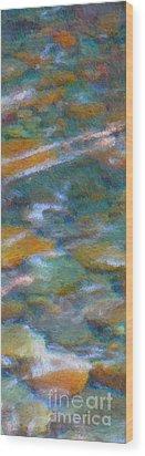 Homage To Van Gogh 2 Wood Print by Carol Groenen