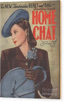 Home Chat 1940s Uk Womens Portraits Wood Print by The Advertising Archives