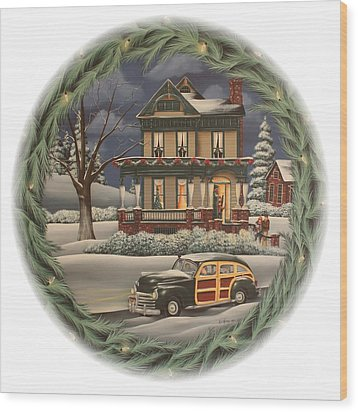 Home For The Holidays Wood Print by Catherine Holman