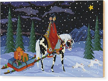 Home For The Holidays Wood Print by Chholing Taha