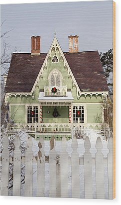 Home For The Holidays Wood Print by Courtney Webster