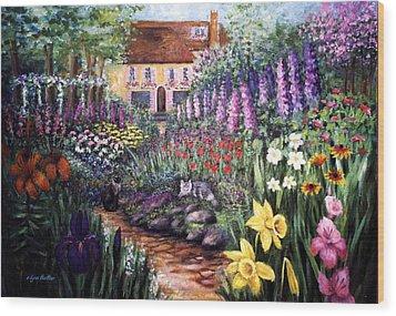 Home Garden Wood Print