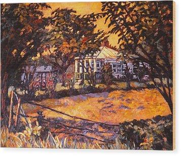 Home In Christiansburg Wood Print by Kendall Kessler