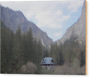 Home In The Mountains Wood Print by Jeff Kolker