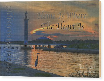 Home Is Where The Heart Is Wood Print by Maddalena McDonald