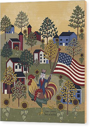 Home Of The Brave Wood Print by Medana Gabbard