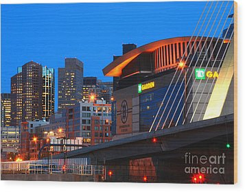 Home Of The Celtics And Bruins Wood Print