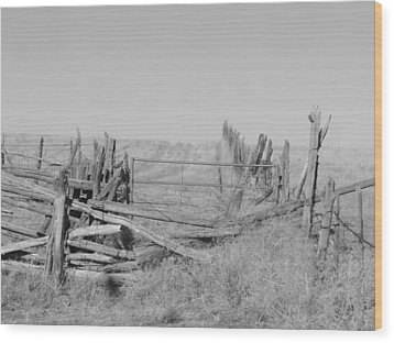 Wood Print featuring the photograph Home On The Range by Deborah Moen
