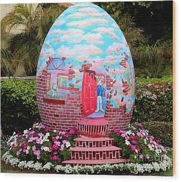 Home Sweet Egg Wood Print