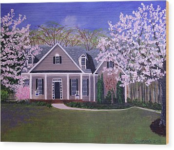 Wood Print featuring the painting Home Sweet Home by Janet Greer Sammons