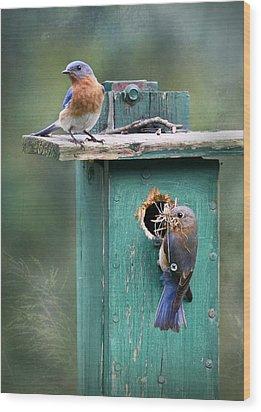Home Sweet Home Wood Print by Lori Deiter