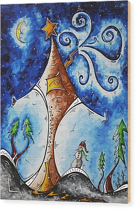 Home Sweet Home Wood Print by Megan Duncanson