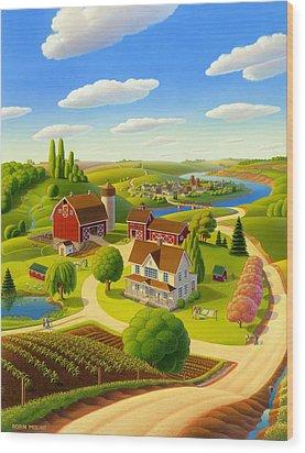 Home To Harmony Wood Print by Robin Moline
