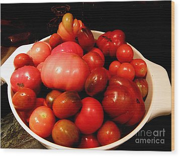 Homegrown Bounty  2 Wood Print by Tanya  Searcy