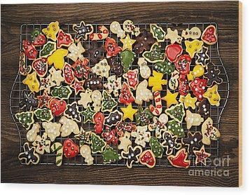 Homemade Christmas Cookies Wood Print by Elena Elisseeva