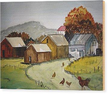 Homestead 2 Wood Print by Judi Goodwin