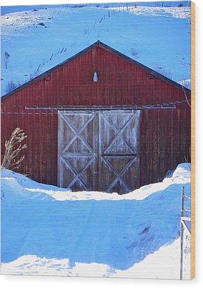 Homestead Barn Wood Print