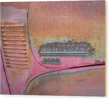 Homestead Chev Wood Print by Jerry McElroy