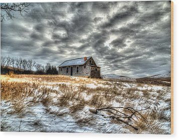 Wood Print featuring the photograph Homestead by Kevin Bone