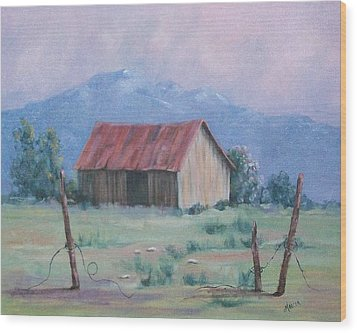Homestead Wood Print by Marcea Clive