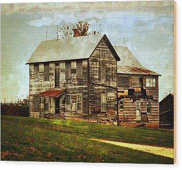 Homestead Wood Print by Marty Koch