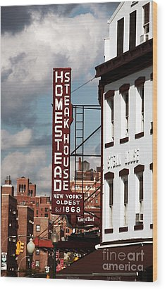Homestead Steakhouse Wood Print by John Rizzuto